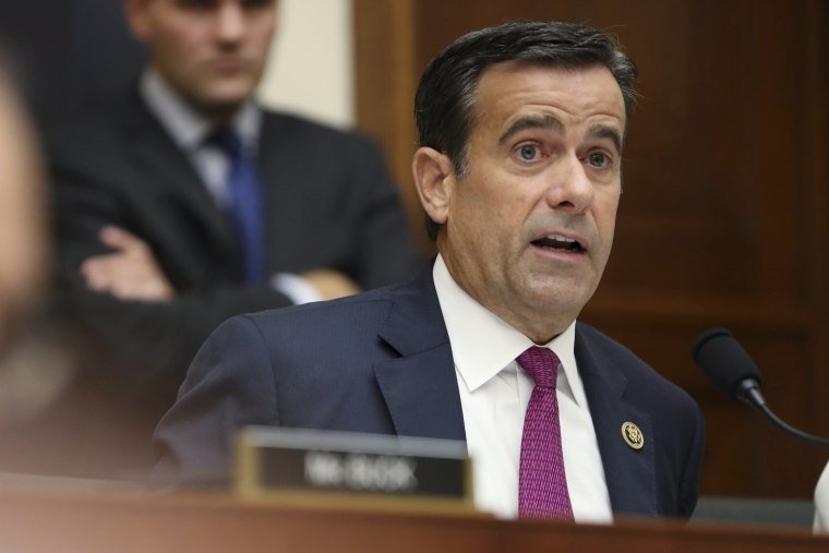 Rep. John Ratcliffe, R-Texas., asks questions to former special counsel Robert Mueller, as he testifies before the House Judiciary Committee hearing on his report on Russian election interference, on Capitol Hill, in Washington, Wednesday, July 24, 2019.