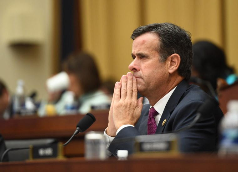 In this file photo taken on July 24, 2019 Representative John Ratcliffe, Republican of Texas, listens as former Special Counsel Robert Mueller testifies in Washington, D.C.