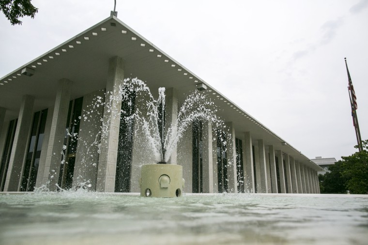 The North Carolina state legislature building is seen in Raleigh, N.C., on Monday, May 9, 2016.
