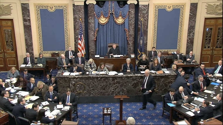 In this image from video, Ken Starr, an attorney for President Donald Trump, walks to the podium to speak during the impeachment trial against Trump in the Senate at the U.S. Capitol in Washington, Monday, Jan. 27, 2020.