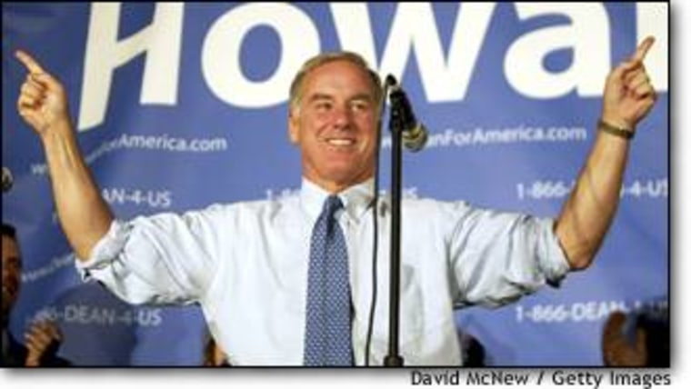Howard Dean radiates confidence during his final stop of the third fund-raising quarter in Los Angeles.