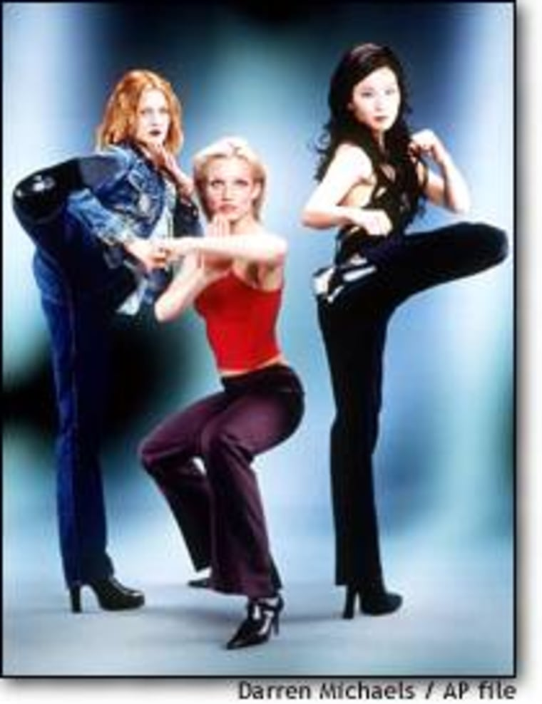 Movies like 'Charlie's Angels' that feature women wielding martial arts moves have spurred interest in the practice at gyms, instructors say.