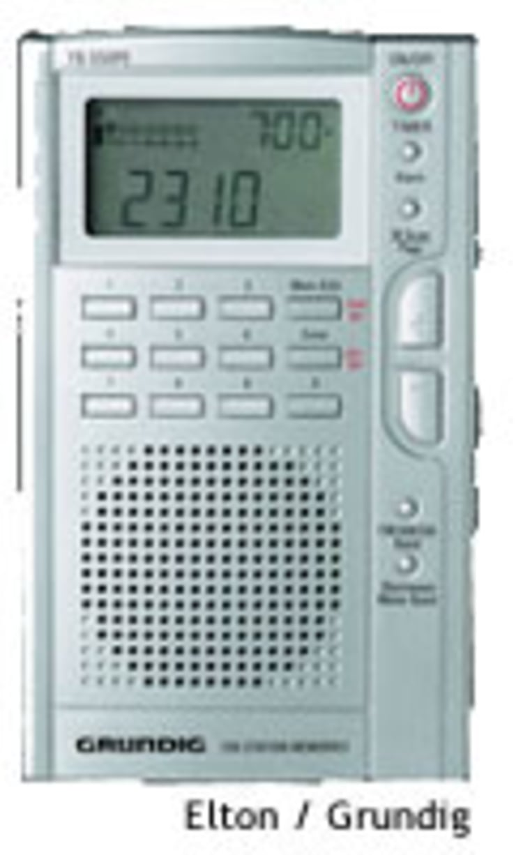 It's bigger than an old fashioned transistor radio - but large enough to include a good-sounding speaker.