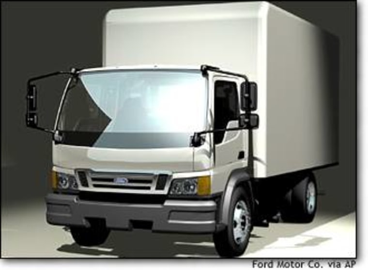 Ford Motor Co., whose trucks already account for a large chunk of its total sales, announced plans to enter a new segment of the market with the introduction of a low cab forward truck, which is shown in this undated handout photo.