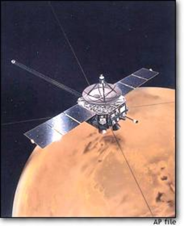 """An artist's illustration shows the Japanese Mars probe known as Nozomi (""""Hope""""). The spacecraft went off-course after its launch five years ago."""