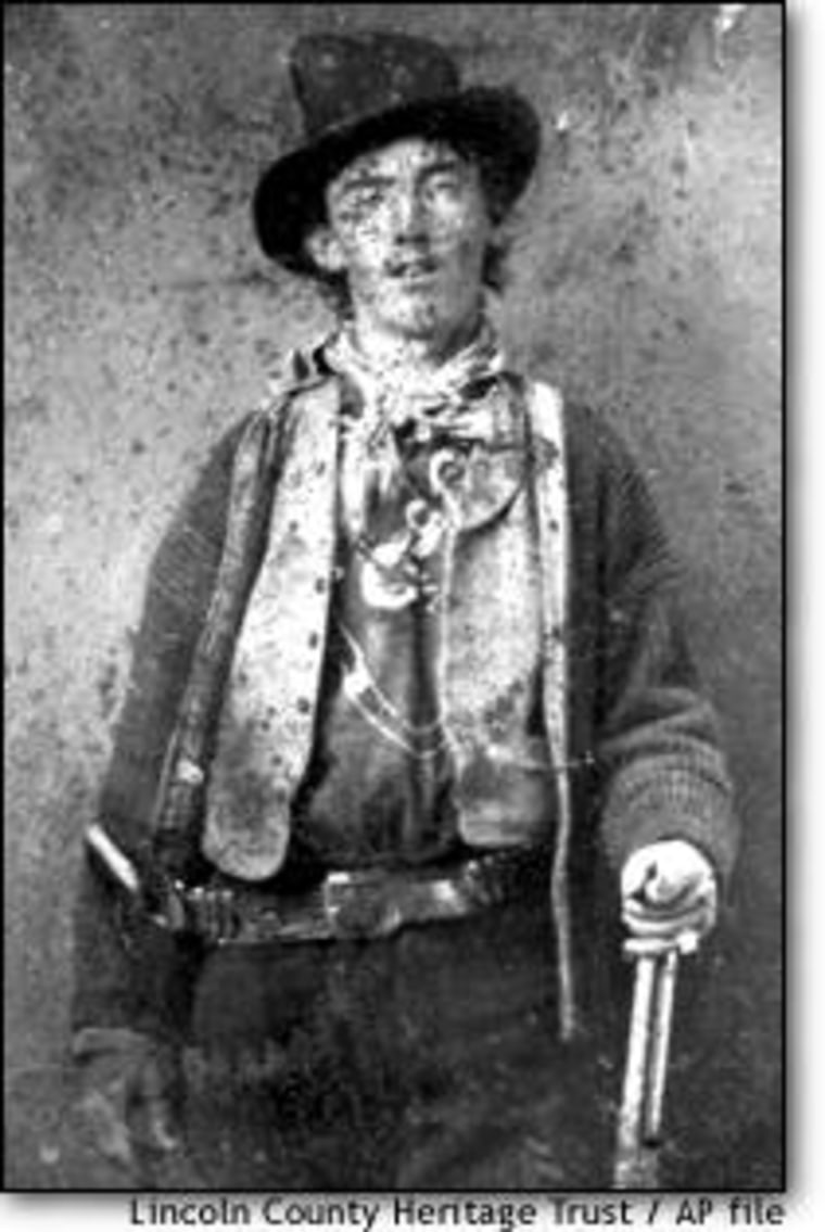 Billy the Kid is believed to be depicted in this undated ferrotype picture, circa 1880, provided by the Lincoln County, N.M., Heritage Trust Archive.