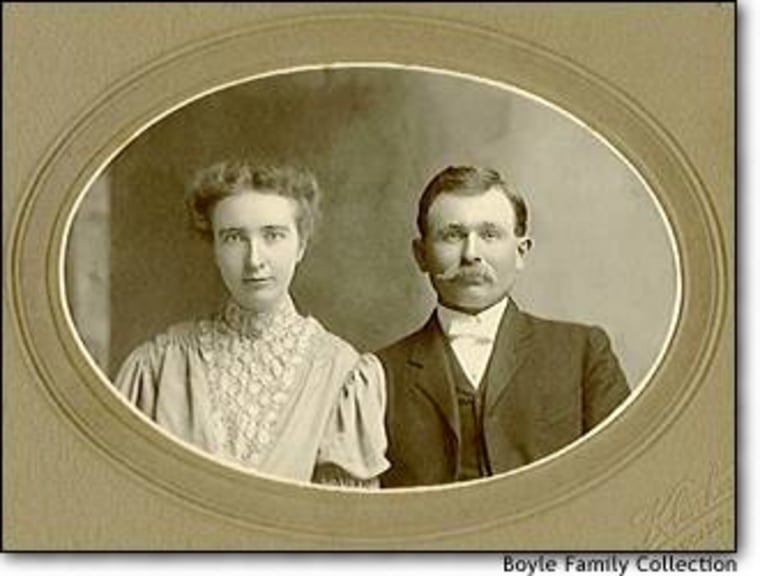 Grandparents Julia and Austin Boyle in a circa-1905 photo.