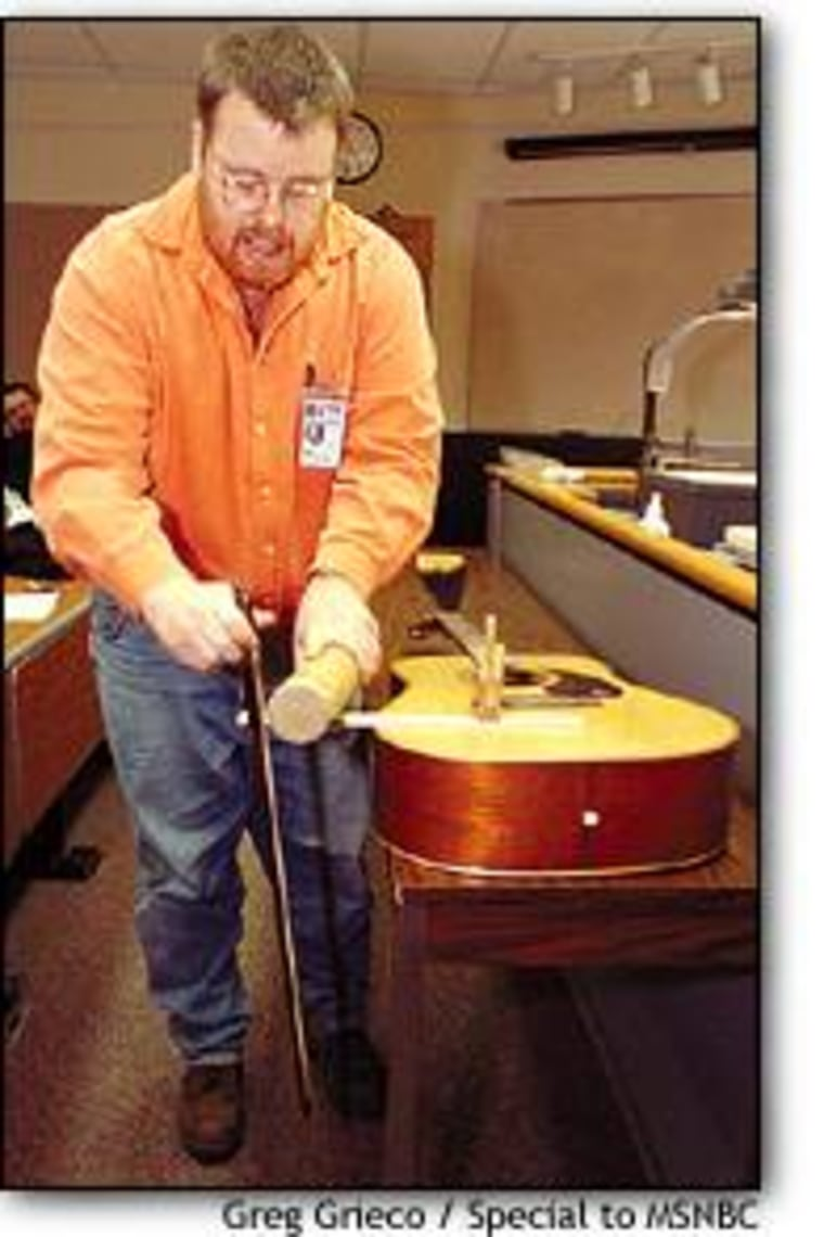 Pennsylvania State University's Ray Wakeland demonstrates a simple version of the daxophone. The instrument may not be for everyone: Its sound has been compared to that of a hyena.