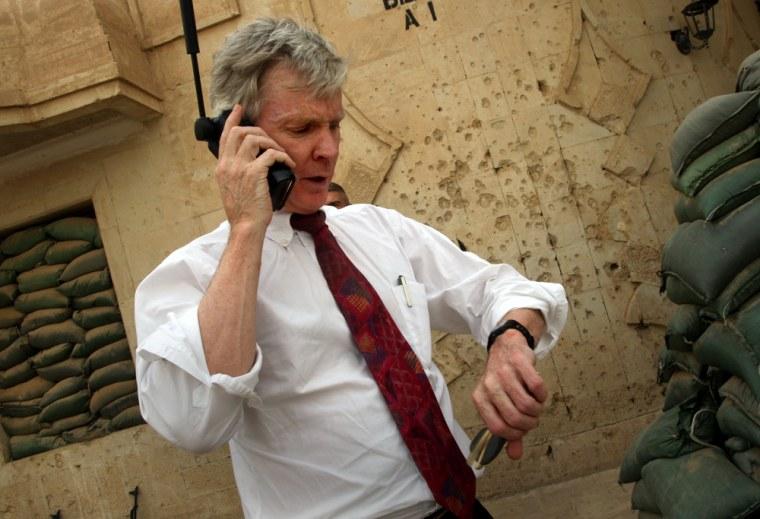 U.S. Ambassador Crocker Prepares For Report To Congress On Iraq