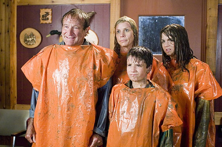 """Robin Williams, Cheryl Hines, Josh Hutcherson and Joanna Levesque star as a family who finds themselves on the vacation from hell in """"RV."""""""