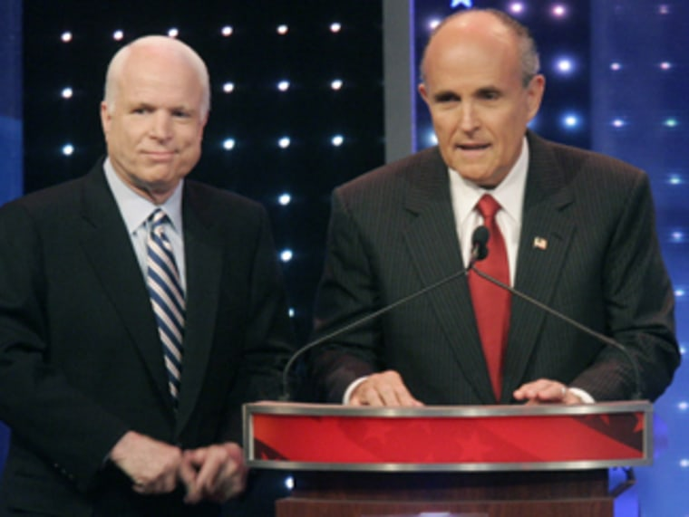 John McCain, Rudy Giuliani