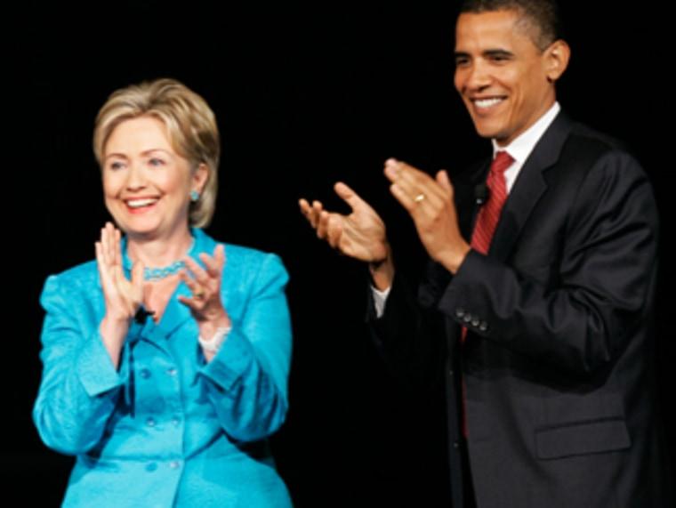 John Edwards, Barack Obama, Hillary Rodham Clinton