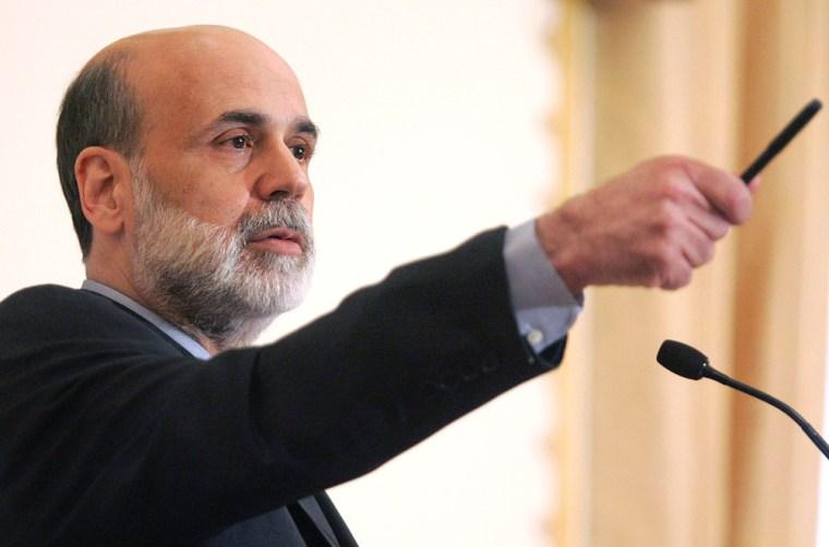 Image: US Federal Reserve Board Chairman Ben Bernanke