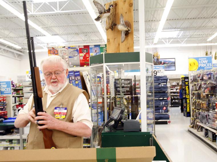 Image: Gun counter at Wal-Mart