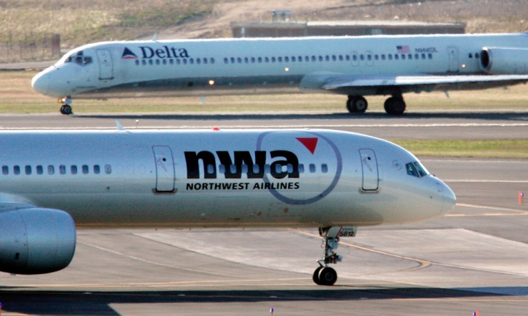 Image: Northwest and Delta airplanes