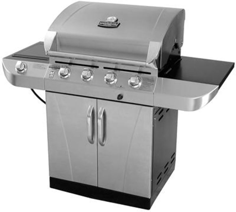 Consumer Reports gave high marks to the Char-Broil Commercial Series grill. One of its top selling points is its lifetime burner warranty.