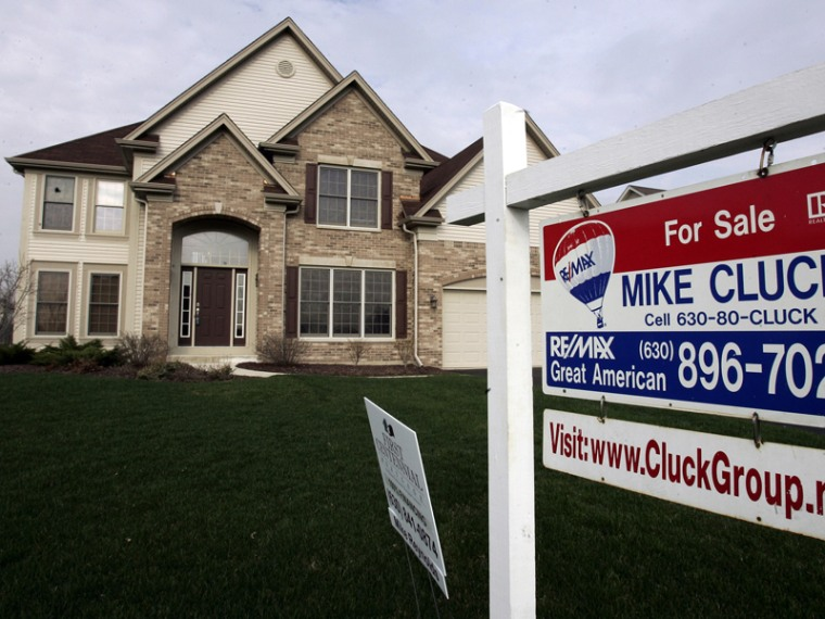 Image: A house sits for sale in North Aurora, Illinois