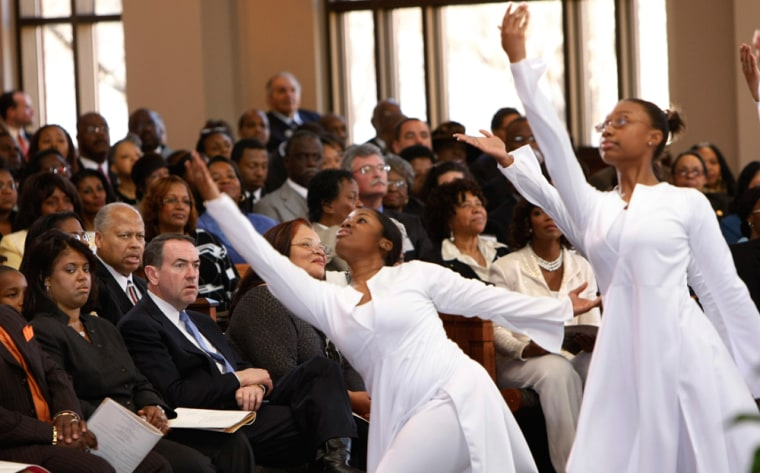 Image: children from the New Life Dance Ministry perform
