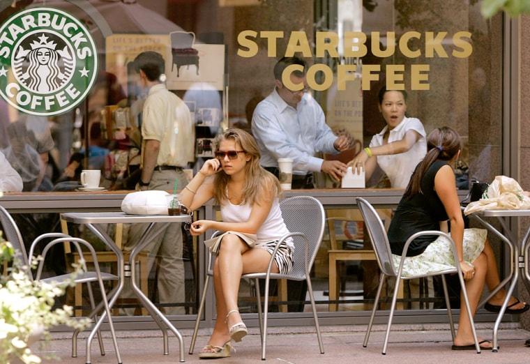 Image: A Starbucks coffee shop in Boston