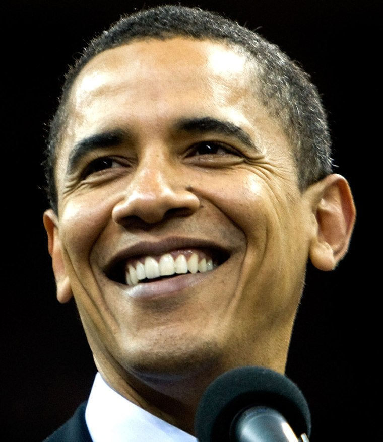 Image; Sen. Barack Obama.