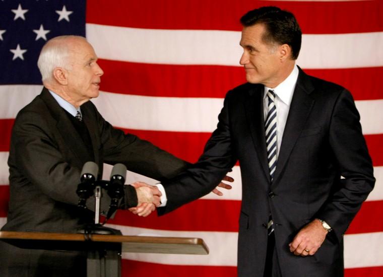 Image: John McCain, Mitt Romney
