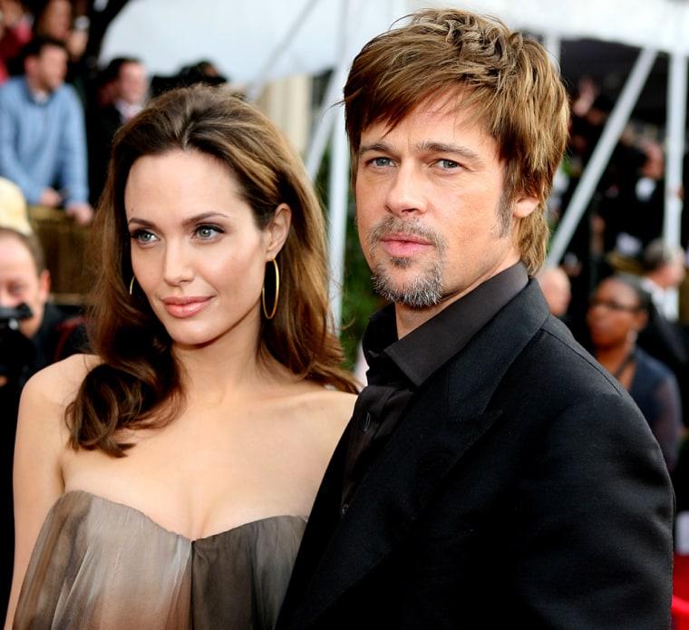 Image: Angelina Jolie and Brad Pitt.