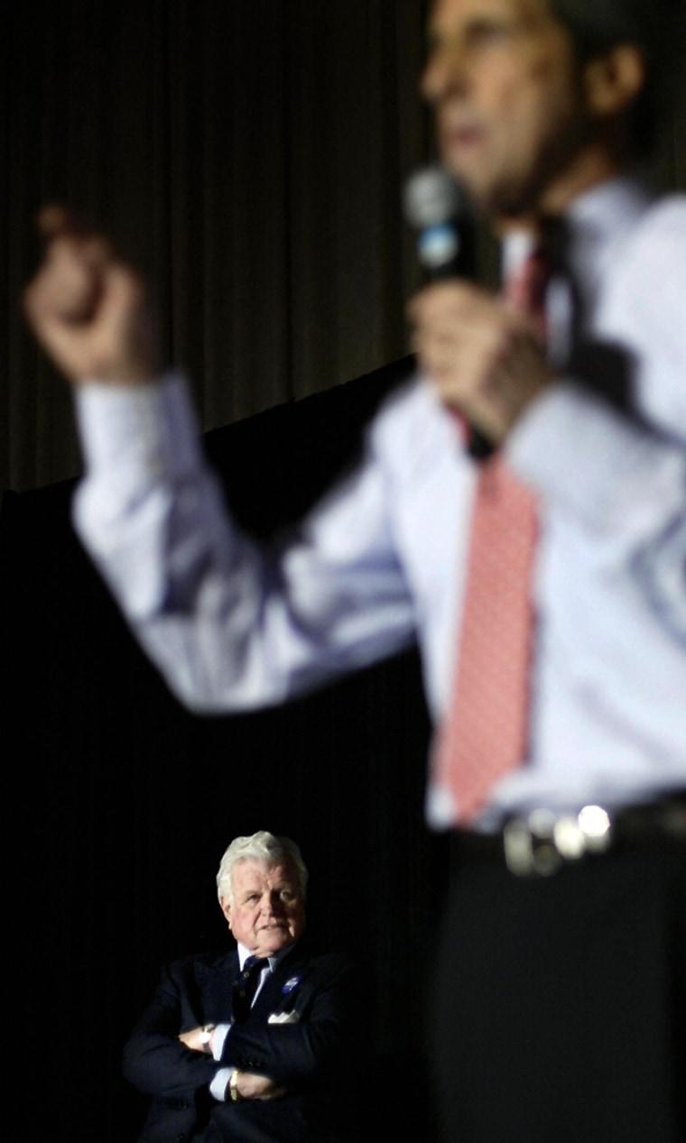 Image: Edward Kennedy and John Kerry