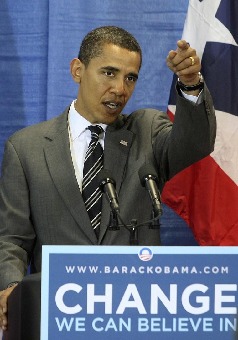 Image:  Senator Barack Obama