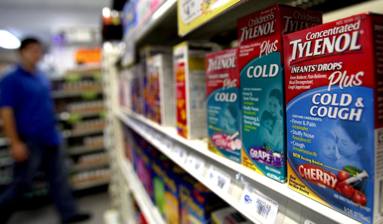 Image: Some Children's Cold Medicines voluntarily recalled in 2007 for risk of overdose