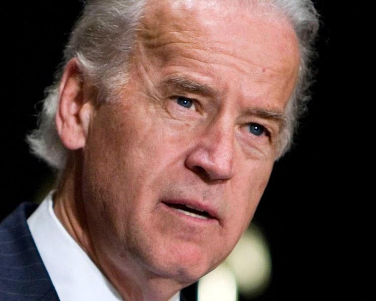 Image: Democratic presidential candidate Senator Joseph Biden.
