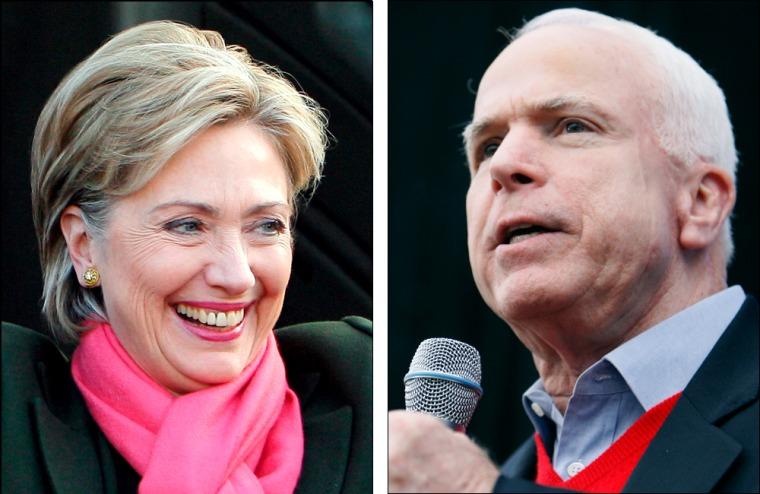 Image: Hillary Clinton & John McCain