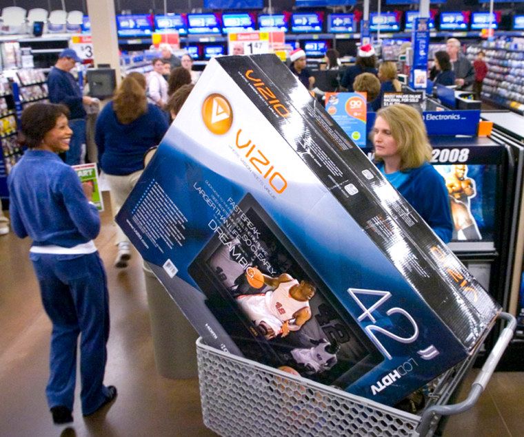 Image: Shoppers in Wal-Mart
