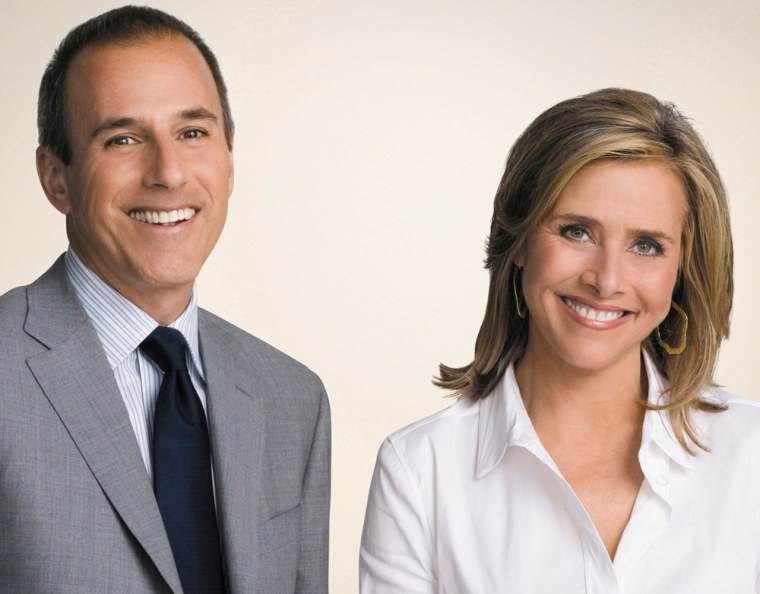 Matt Lauer and Meredith Vieiraare co-anchors of TODAY.