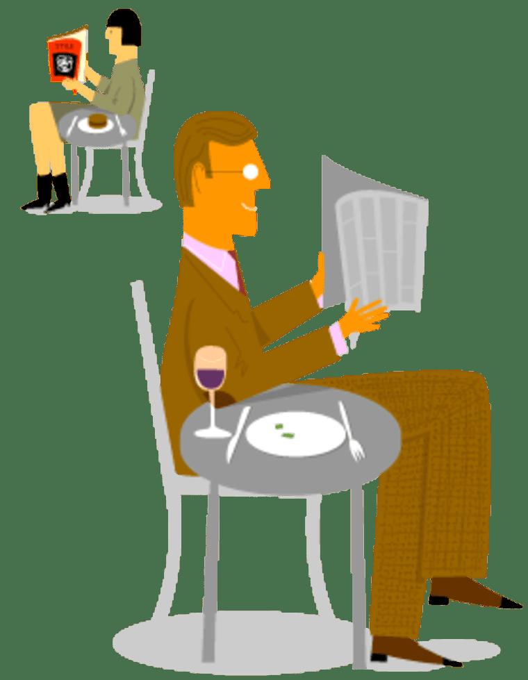 Image depicting someone eating alone