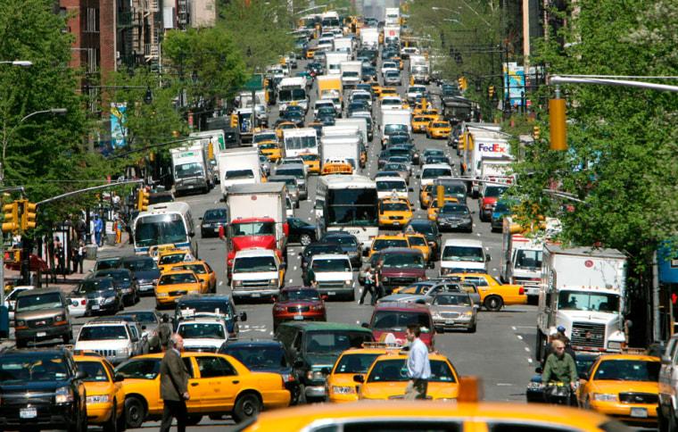 Image: New York City traffic.