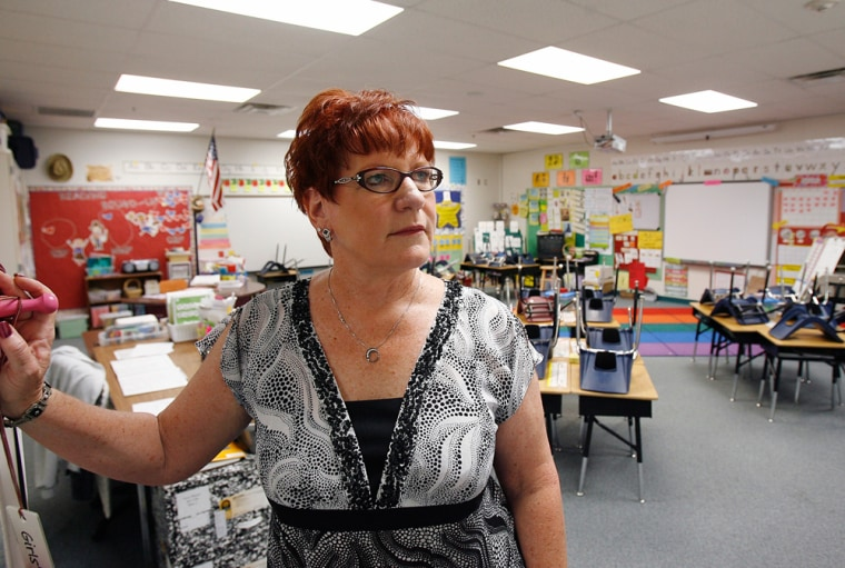 Image: Principal in vacant classroom following Ariz. immigration law