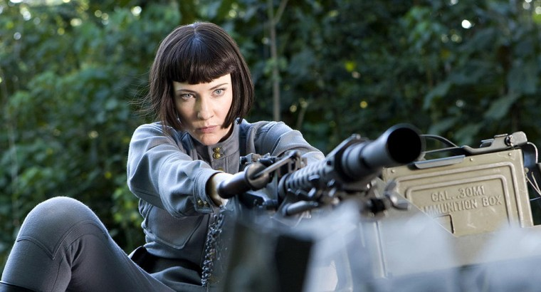 """Cate Blanchett plays a villainous Soviet agent named Irina Spalko in """"Indiana Jones and the Kingdom of the Crystal Skull."""" Her role has angered some members of Russia's opposition Communist Party."""