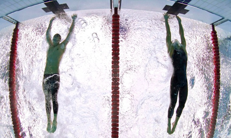 Image: Michael Phelps, Milorad Cavic
