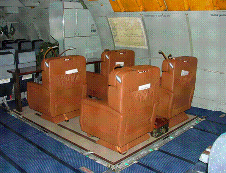 A prototype of part of a travel capsule that the Air Force can use for senior officers and civilian leaders is shown in an image released by the watchdog group Project on Government Oversight.
