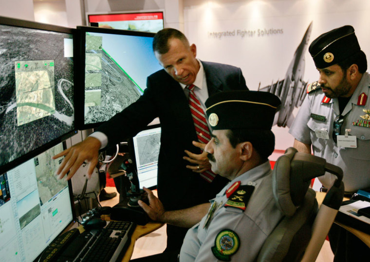 Image: The newly-unveiled control system for unmanned drones created by Raytheon