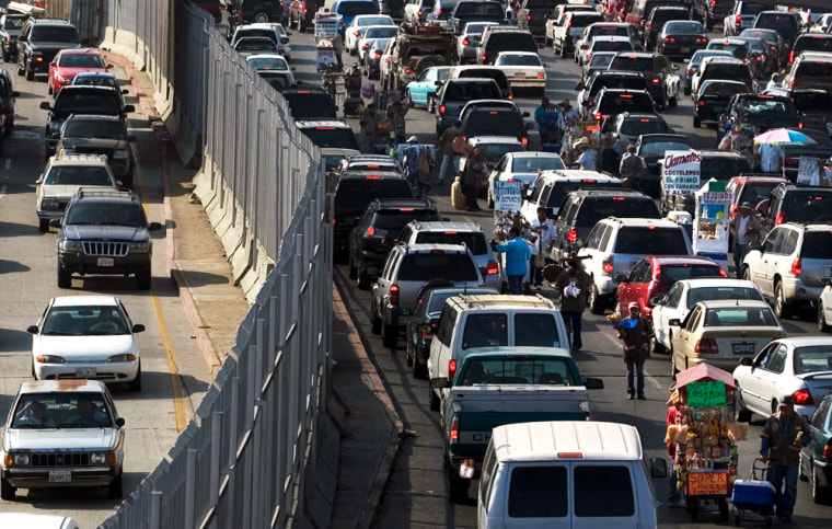 Image: Border crossing to Mexico