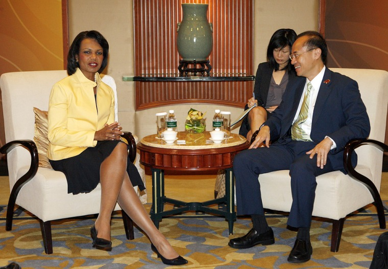 Image: US Secretary of State Condoleezza Rice meets with Singaporean Foreign Minister George Yeo