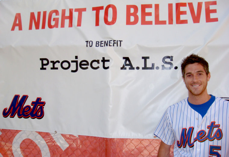 Dave Annable attends a recent fundraising event for Project A.L.S. sponsored by the New York Mets.