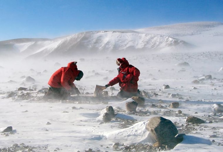 Image: Two men in the Transantarctic Mountains