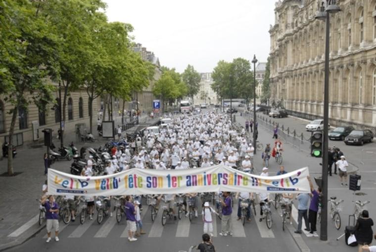 Parcours des champions : 365 abonnés en vélib'