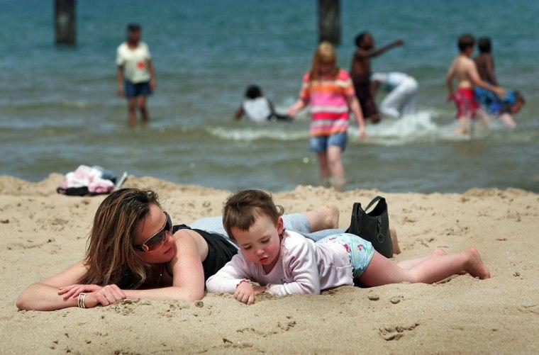 Image: The North Avenue beach  in Chicago, Illinois