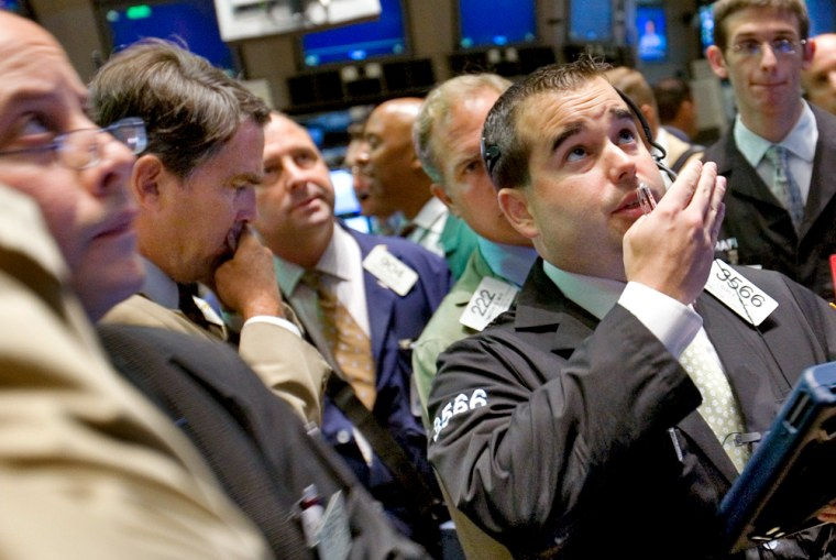 Traders on the floor of the NYSE, and many stocks, were looking up Tuesday.