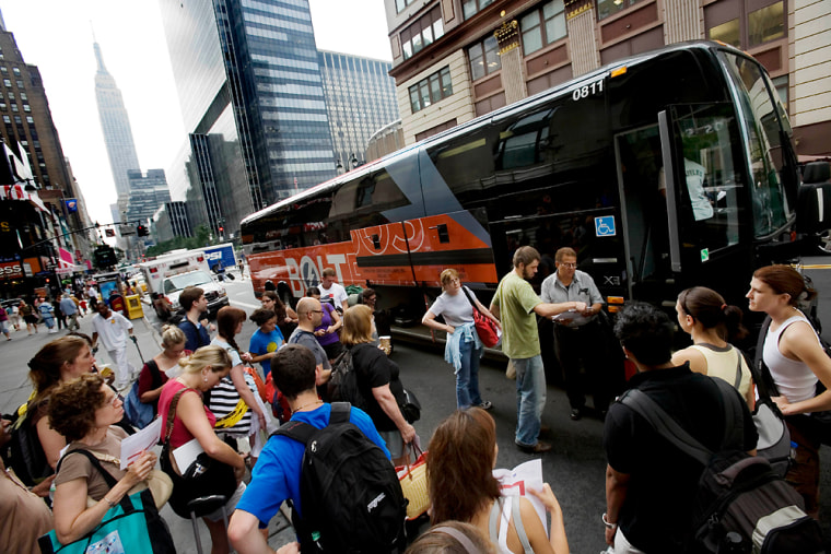 Greyhound launched its low-cost service Boltbus earlier this year. The service began in late March from New York to Washington D.C., and in April from Philadelphia and Boston, running routes between the cities and New York. A ticket tops out at between $15 and $25.