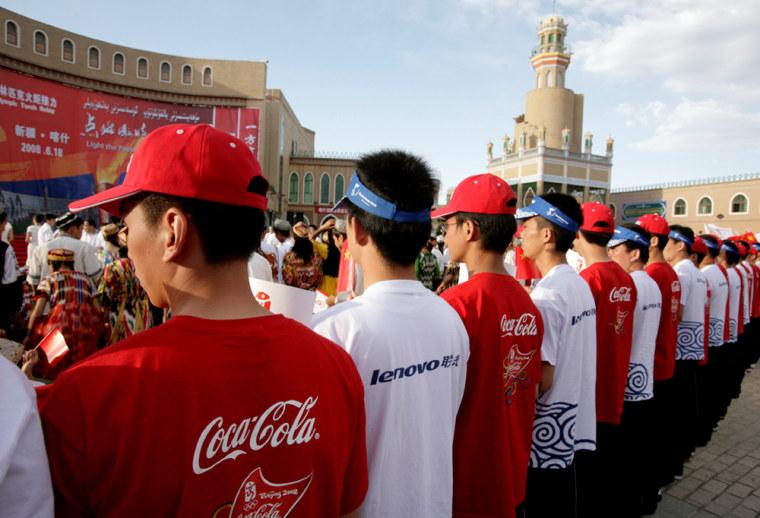 Image: Olympic sponsor tee-shirts