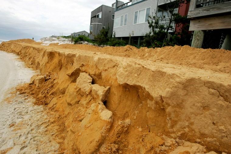 Image: Beach replenishment in Harvey Cedars, NJ